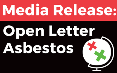 Media Release: Open Letter on Asbestos – stop the coming cancer epidemic in Asia