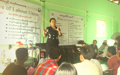 Organising Workers and Forming Unions in Myanmar
