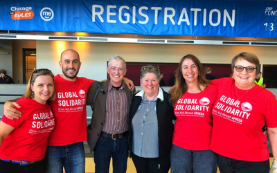 A Show of Global Solidarity at ACTU Congress 2018
