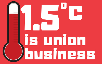 5 reasons why 1.5 °C is trade union business