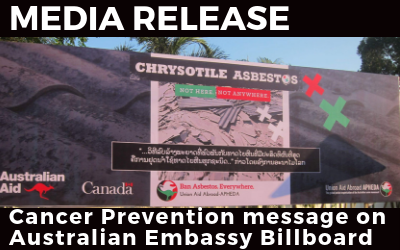 MEDIA RELEASE: Cancer Prevention on Australian Embassy Billboards in Laos