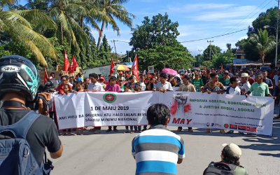 Workers in Timor Leste come together for Dili's biggest May Day ever
