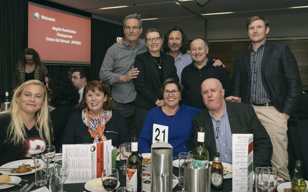 Sydney Celebrates Global Solidarity at the 2019 APHEDA Dinner!