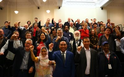 Australian Internationalists Gather to Hear Tecber Ahmed Saleh