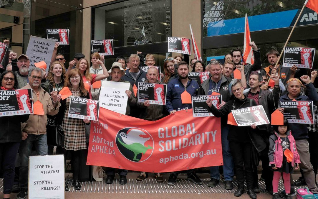 """""""Their cause is our cause, their fight is our fight"""": Australian Unionists Rally in Solidarity With Workers in the Philippines"""