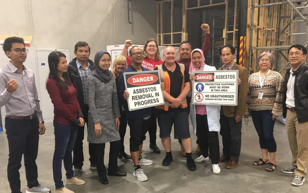 Ban Asbestos Campaigners Visit Australia for Training in Asbestos Safety and Removal