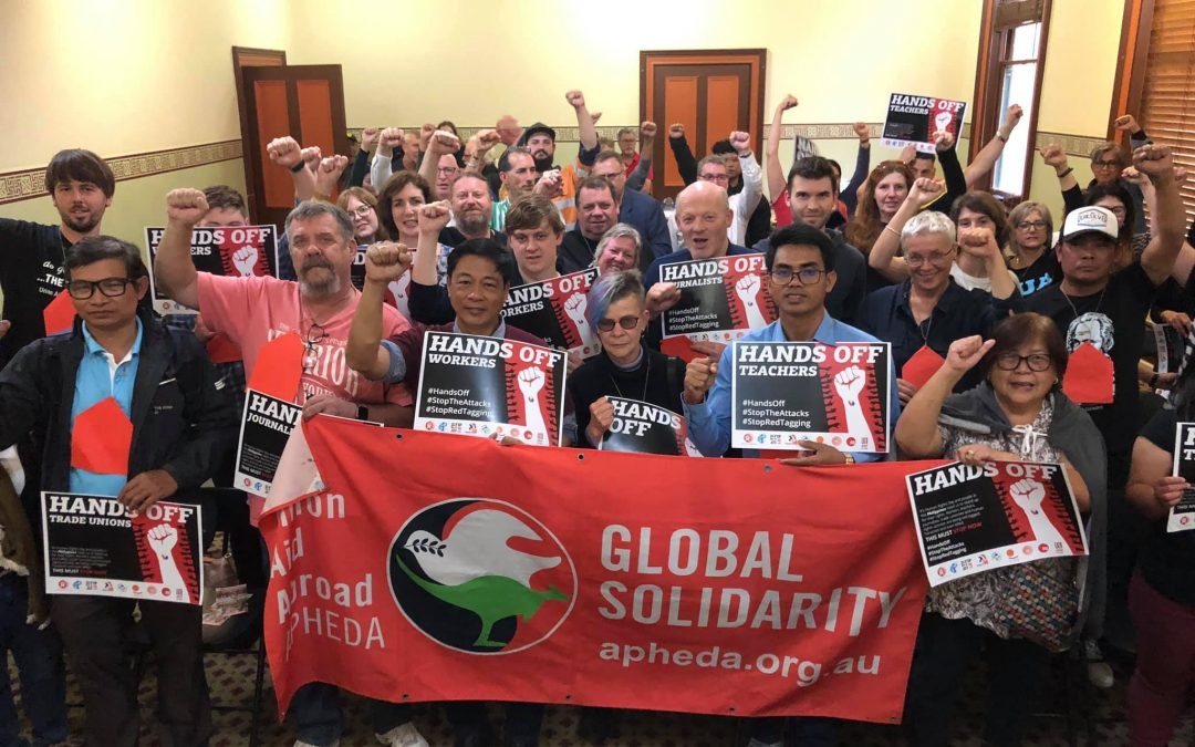 Australian Unionists Meet with Philippines Union Leader Elmber Labog on Solidarity Tour