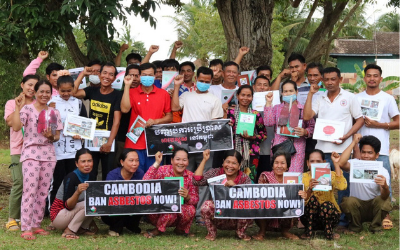 Organising to raise awareness of asbestos risk in Cambodia